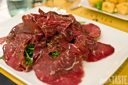bresaola & arugula with extra virgin olive oil