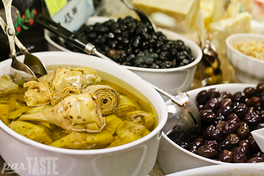 marinated artichokes and olives