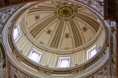 The Neoclassical dome of the Chapel of St. Francis de Borja