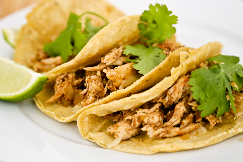 Tacos De Pollo Mexican Shreaded Chicken Tacos