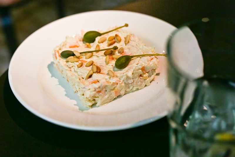 Think ensaladilla is a normal, small salad? Think again, it's made with potato, mayo and tuna.