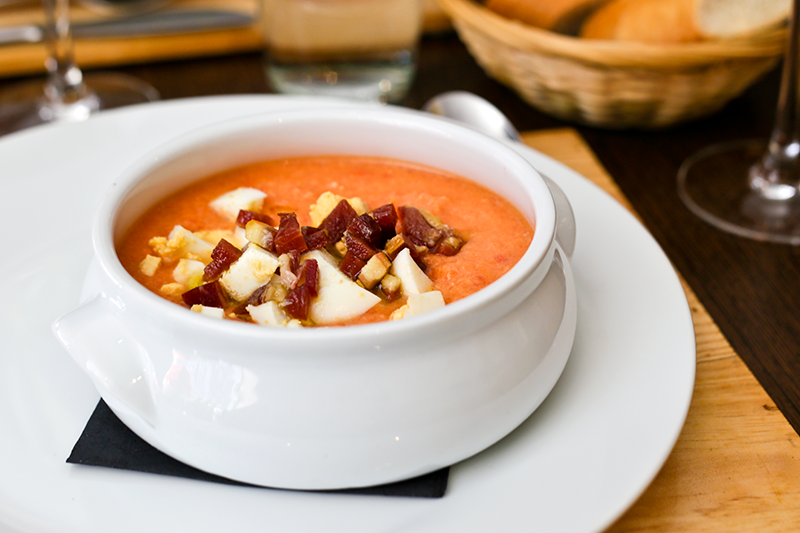 Salmorejo - a cold tomato soup - is a common order among diners, especially in summer